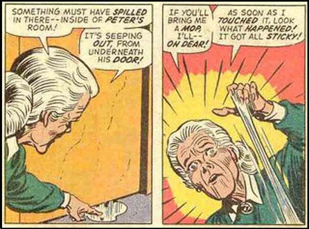 AUNT MAY AND PETERS WHITE STICKY
