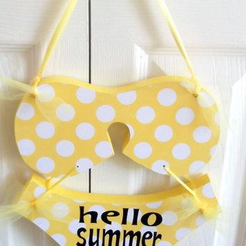itsy bitsy teeny ween yellow polkadot bikini