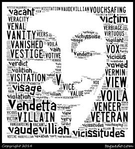 V for Vendetta black and qhite